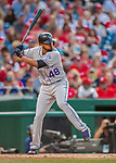 29 July 2017: Colorado Rockies pitcher German Marquez at bat against the Washington Nationals at Nationals Park in Washington, DC. The Rockies defeated the Nationals 4-2 in the first game of their 3-game weekend series. Mandatory Credit: Ed Wolfstein Photo *** RAW (NEF) Image File Available ***