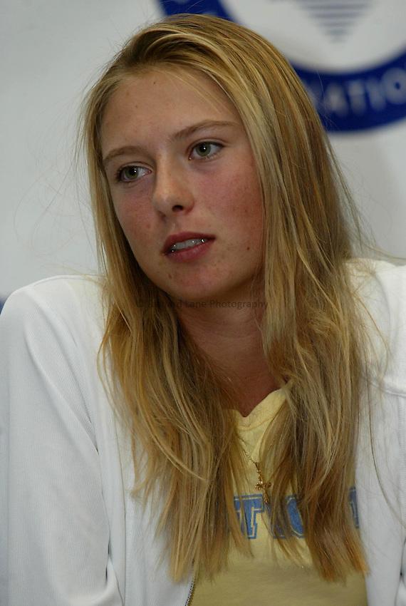 Photo: Richard Lane..DFS Classic Women's International Tennis at Edgebaston. 10/06/2003..Maria Sharapova.