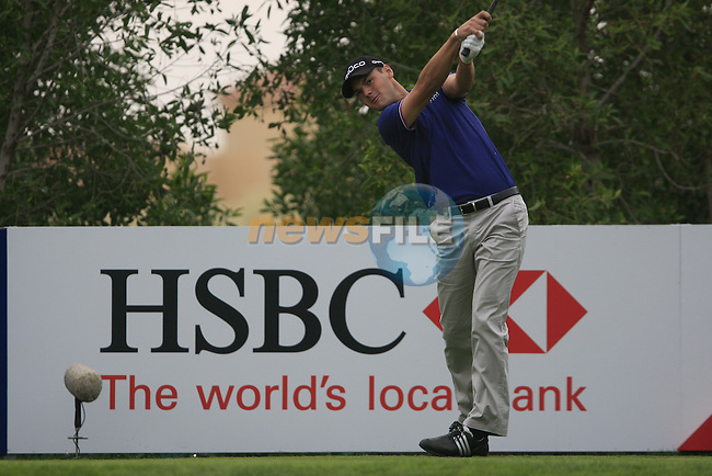 Martin Kaymer tees off on the 13th tee during Day 2 Friday of the Abu Dhabi HSBC Golf Championship, 21st January 2011..(Picture Eoin Clarke/www.golffile.ie)