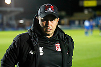 Leyton Orient manager, Ross Embleton seen during the The Leasing.com Trophy match between AFC Wimbledon and Leyton Orient at the Cherry Red Records Stadium, Kingston, England on 8 October 2019. Photo by Carlton Myrie / PRiME Media Images.