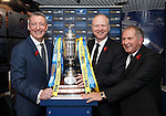 Eddie Thomson from William Hill, Alex McLeish and SFA President Alan McRae