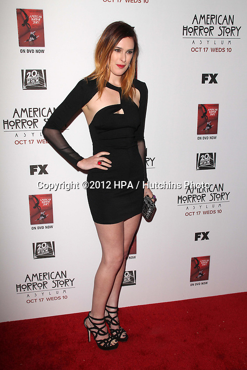 """LOS ANGELES - OCT 13:  Rumer Willis arrives at the """"American Horror Story: Asylum"""" Premiere Screening at Paramount Theater on October 13, 2012 in Los Angeles, CA"""