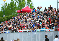 Boyds, MD - Saturday May 07, 2016: Part of the crowd during a regular season National Women's Soccer League (NWSL) match at Maureen Hendricks Field, Maryland SoccerPlex. Washington Spirit tied the Portland Thorns 0-0.
