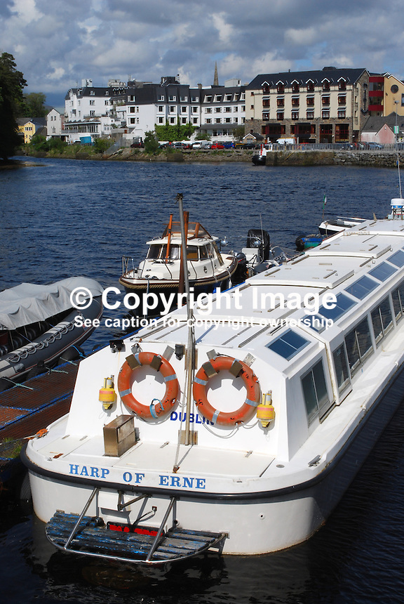 Donegal Town, Rep of Ireland - photographed from the quayside where the River Eske flows into Donegal Bay and ultimately the Atlantic Ocean. 200905192478..Copyright Image from Victor Patterson, 54 Dorchester Park, Belfast, UK, BT9 6RJ..Tel: +44 28 9066 1296.Mob: +44 7802 353836.Voicemail +44 20 8816 7153.Skype: victorpattersonbelfast.Email: victorpatterson@mac.com.Email: victorpatterson@ireland.com (back-up)..IMPORTANT: If you wish to use this image or any other of my images please go to www.victorpatterson.com and click on the Terms & Conditions. Then contact me by email or phone with the reference number(s) of the image(s) concerned.