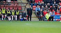 Grimsby Town manager, Marcus Bignot watches on during the Sky Bet League 2 match between Leyton Orient and Grimsby Town at the Matchroom Stadium, London, England on 11 March 2017. Photo by Carlton Myrie / PRiME Media Images.