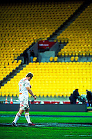Chiefs co-captain Sam Cane walks from the pitch after the Super Rugby semifinal match between the Hurricanes and Chiefs at Westpac Stadium, Wellington, New Zealand on Saturday, 30 July 2016. Photo: Dave Lintott / lintottphoto.co.nz