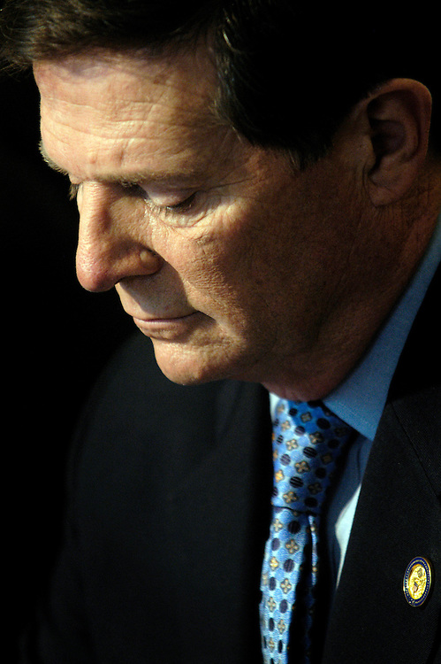 Rep. Tom DeLay, R-Tx., at a press conference about the Terri Schiavo case in Florida. Subpoenas have been issued by the House in order to investigate the order to cease feeding Schiavo, who is in a vegetative state.
