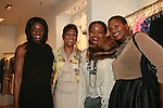 Journalist Lolo Ogunnaike, Jocelyn Taylor, Tracy Reese and Carline Balan Attend an exclusive elegant evening of fashion and design through Shop for a Cause highlighting art and fashion from local emerging Haitian artisans Hosted by Designer, Tracy Reese, JRT Multimedia, CEO Jocelyn Taylor and BACARDI USA at the Tracy Reese Flagship Store 1/26/11<br />
