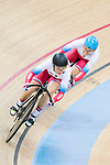 The team of Russia with Anastasiia Voinova and Daria Shmeleva compete in the Women's Team Sprint Final match as part of the 2017 UCI Track Cycling World Championships on 12 April 2017, in Hong Kong Velodrome, Hong Kong, China. Photo by Victor Fraile / Power Sport Images