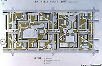 """Le Corbusier:  The Radiant City, 1930. (La """"Ville Verte"""")  Photo '75."""