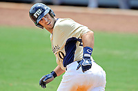 22 April 2012:  FIU infielder Mike Martinez (40) heads to first base after drawing a walk as the University of Arkansas Little Rock Trojans defeated the FIU Golden Panthers, 7-6, at University Park Stadium in Miami, Florida.