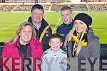 Pictured at the Dr Crokes match in Portlaoise on Saturday, from left: Anne O'Connor, Ger O'Connor, Gary O'Connor, Ryan O'Connor and Keri O'Connor..