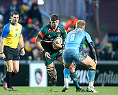 6th January 2018, Welford Road Stadium, Leicester, England; Aviva Premiership rugby, Leicester Tigers versus London Irish; Mike Williams on the charge for Tigers
