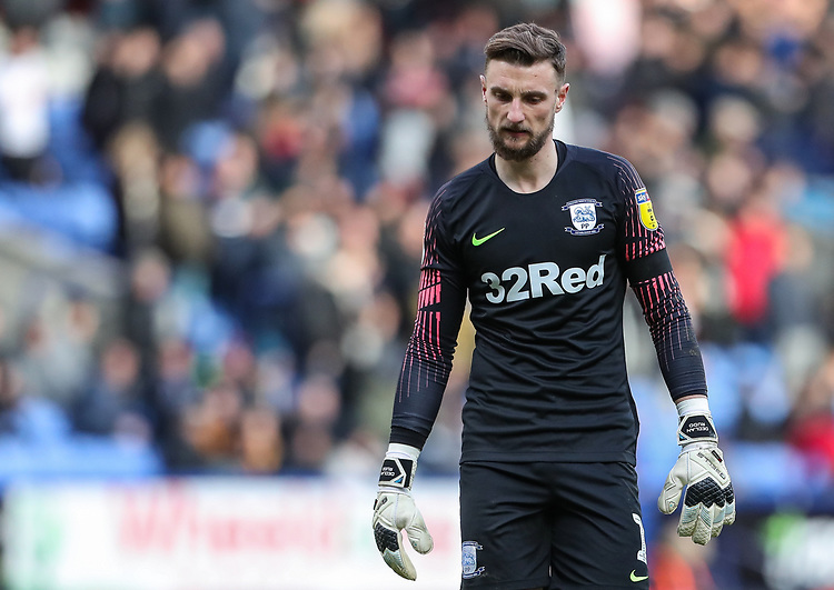 Preston North End's goalkeeper Declan Rudd  <br /> <br /> Photographer Andrew Kearns/CameraSport<br /> <br /> The EFL Sky Bet Championship - Bolton Wanderers v Preston North End - Saturday 9th February 2019 - University of Bolton Stadium - Bolton<br /> <br /> World Copyright © 2019 CameraSport. All rights reserved. 43 Linden Ave. Countesthorpe. Leicester. England. LE8 5PG - Tel: +44 (0) 116 277 4147 - admin@camerasport.com - www.camerasport.com