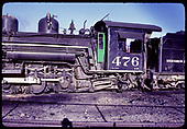 D&amp;RGW #476 K-28 - Close-up view of boiler and cab.<br /> D&amp;RGW  Durango, CO