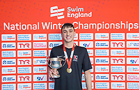 Picture by Allan McKenzie/SWpix.com - 17/12/2017 - Swimming - Swim England Nationals - Swim England National Championships - Ponds Forge International Sports Centre, Sheffield, England - William Bell with gold in the mens 200m individual medley.