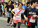 September 30, 2017, Tokyo, Japan - Special Olympics Nippon Foundation president Yuko Arimori runs at a charity run for the Special Olympics at Toyota's showroom Mega Web in Tokyo on Saturday, September 30, 2017. Some 1,800 people participated the charity event as Japan's Special Olympic Games will be held in Aichi in 2018.   (Photo by Yoshio Tsunoda/AFLO) LWX -ytd-