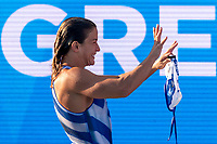 Celebration Greece  7 ASIMAKI Alexandra GRE <br /> GRE - ESP Greece (white caps) vs. Spain (blue caps) <br /> Barcelona 25/07/2018 Piscines Bernat Picornell <br /> Women semifinal 5th 8th place <br /> 33rd LEN European Water Polo Championships - Barcelona 2018 <br /> Photo Andrea Staccioli/Deepbluemedia/Insidefoto