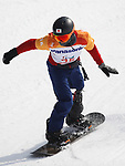 Atsushi Yamamoto (JPN),  MARCH 12, 2018 - Snowboarding :  Men's Snowboard Cross Standing  at Jeongseon Alpine Centre  during the PyeongChang 2018 Paralympics Winter Games in Pyeongchang, South Korea.  (Photo by Sho Tamura/AFLO SPORT)