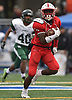 Justin Lescouflair #3 of Freeport rushes for a 58-yard touchdown during the third quarter of the Class I Long Island Championship against Floyd at Shuart Stadium in Hempstead on Saturday, Nov. 24, 2018.