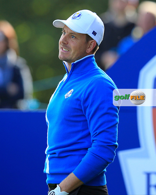 Henrik Stenson (EUR) during the Friday Morning Fourballs during the 2014 Ryder Cup at Gleneagles. The 40th Ryder Cup is being played over the PGA Centenary Course at The Gleneagles Hotel, Perthshire from 26th to 28th September 2014.: Picture Eoin Clarke, www.golffile.ie: \26/09/2014\