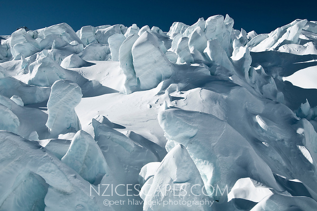 Massive seracs of the upper part of the Fox Glacier - Westland National Park