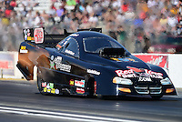 May 19, 2012; Topeka, KS, USA: NHRA funny car driver Jack Wyatt during qualifying for the Summer Nationals at Heartland Park Topeka. Mandatory Credit: Mark J. Rebilas-
