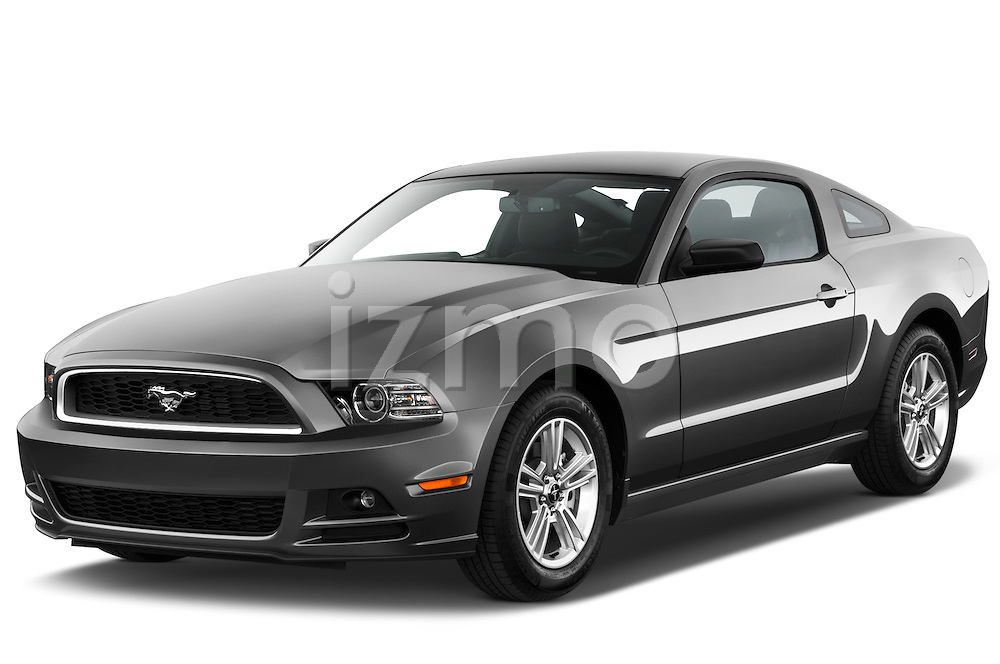 Front three quarter view of a 2013 Ford Mustang V6.