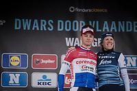Mathieu Van Der Poel (NED/Correndon-Circus) & Ellen van Dijk (NED/Trek-Segafredo) both win Dwars door Vlaanderen 2019 <br /> <br /> ©kramon