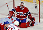 17 October 2009: Montreal Canadiens goaltender Carey Price makes a save in the third period against the Ottawa Senators at the Bell Centre in Montreal, Quebec, Canada. The Senators defeated the Canadiens 3-1. Mandatory Credit: Ed Wolfstein Photo