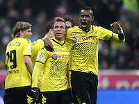 FUSSBALL   1. BUNDESLIGA  SAISON 2011/2012   13. Spieltag FC Bayern Muenchen - Borussia Dortmund        19.11.2011 Jubel nach dem Tor zum 0:1, Mario Goetze , Felipe Santana (v. li., Borussia Dortmund)