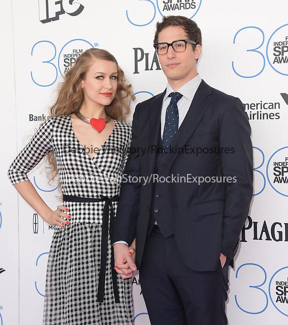 Andy Samberg<br />  attends 2015 Film Independent Spirit Awards held at Santa Monica Beach in Santa Monica, California on February 21,2015                                                                               © 2015Hollywood Press Agency