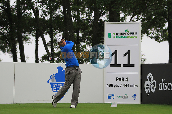 Simon Khan tees off on the 11th tee box during the Pro Am at the Irish Open in Killarney, Co.Kerry. ..(Photo credit should read Jenny Matthews www.newsfile.ie)....This Picture has been sent you under the conditions enclosed by:.Newsfile Ltd..The Studio,.Millmount Abbey,.Drogheda,.Co Meath..Ireland..Tel: +353(0)41-9871240.Fax: +353(0)41-9871260.GSM: +353(0)86-2500958.email: pictures@newsfile.ie.www.newsfile.ie.