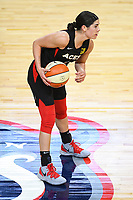 Washington, DC - Sept 17, 2019: Las Vegas Aces guard Kelsey Plum (10) during WNBA Playoff semi final game between Las Vegas Aces and Washington Mystics at the Entertainment & Sports Arena in Washington, DC. The Mystics hold on to beat the Aces 97-95. (Photo by Phil Peters/Media Images International)