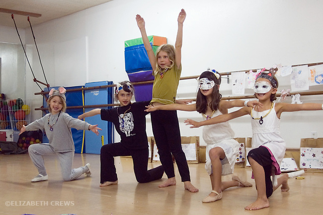 Lafayette CA Girls, ages six to eight, putting on a performance in summer theatre day camp
