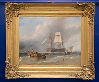 Painting of Admiral Lord Nelson being taken to his first ship under his command has been found