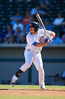 Mesa Solar Sox Victor Caratini (3), of the Chicago Cubs organization, during a game against the Scottsdale Scorpions on October 18, 2016 at Sloan Park in Mesa, Arizona.  Mesa defeated Scottsdale 6-3.  (Mike Janes/Four Seam Images)