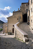 The cobbled streets of Santo Stefano di Sessanio rise steeply through the village