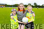 Daithi Doyle, Siun Cronin and Abby O'Donnell at the St Senans Cul Camp on Tuesday