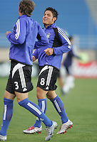 2 April 2005:   Brett Rodriguez of Earthquakes in warm-up before the game against Revolution at Spartan Stadium in San Jose, California.   Earthquakes and Revolutions tied at 2-2.  Credit: Michael Pimentel / ISI