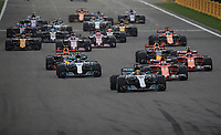Spa 27/08/2017 Formula 1 / GP F1 Belgio Francorchamps <br /> <br /> Hamilton Nr. 44 Merceds-Vettel Nr. 5 Ferrari <br /> Foto Benoit Bouchez / Photonews /Panoramic /Insidefoto