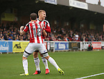 Sheffield United's Mark Duffy celebrtaes scoring his sides opening goal during the League One match at the Kingsmeadow Stadium, London. Picture date: September 10th, 2016. Pic David Klein/Sportimage