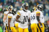Martavis Bryant #10 of the Pittsburgh Steelers in action against the Seattle Seahawks during the game at CenturyLink Field on November 29, 2015 in Seattle, Washington. (Photo by Jared Wickerham/DKPittsburghSports)