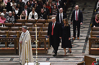 President Trump and the First Lady attend the Christmas Eve service at the Washington National Cathe
