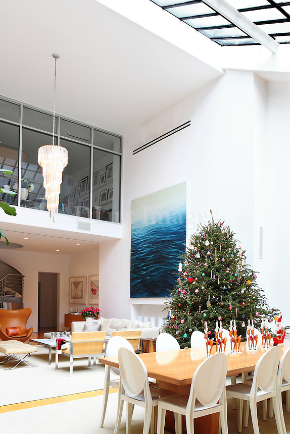Christmas tree in the dining room