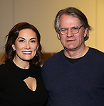 "Laura Benanti and Bartlett Sher attend the ""My Fair Lady"" Re-Opening Celebration at the Vivian Beaumont Theatre on January 27, 2019 in New York City."