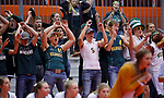 November 22, 2019; Rapid City, SD, USA; Northwestern crowd reacts vs. Faulkton Area at the 2019 South Dakota State Volleyball Championships at the Rushmore Plaza Civic Center in Rapid City, S.D. (Richard Carlson/Inertia)