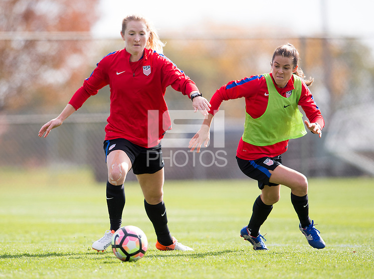 Minneapolis, MN - October 21, 2016: The USWNT trains in preparation for their friendly against Switzerland.