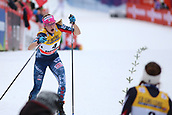 7th January 2018, Val di Fiemme, Fiemme Valley, Italy; FIS Cross Country World Cup, Tour de ski; Ladies 9km F Pursuit; Heidi Weng (NOR), Jessica Diggins (USA)