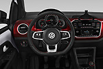 Car pictures of steering wheel view of a 2018 Volkswagen UP GTi 3 Door Hatchback